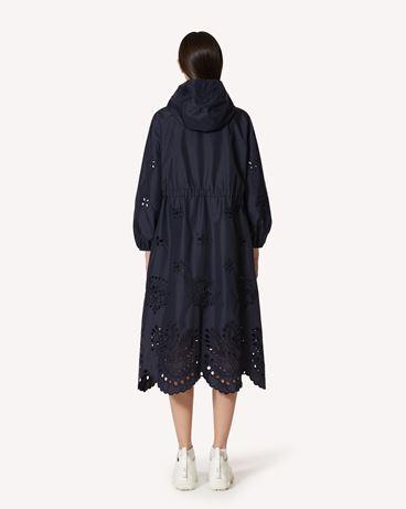 REDValentino Sangallo 刺绣尼龙帆布卡班大衣