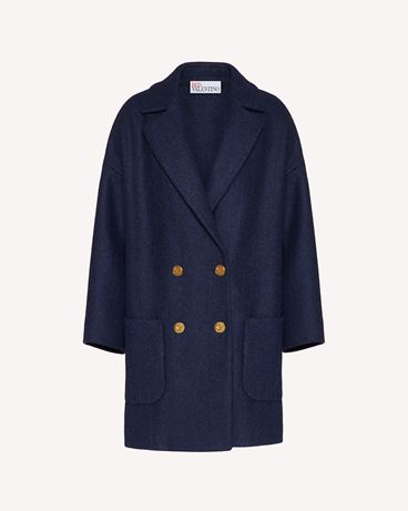 REDValentino 羊毛人字纹大衣