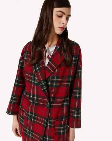 REDValentino 格子呢大衣