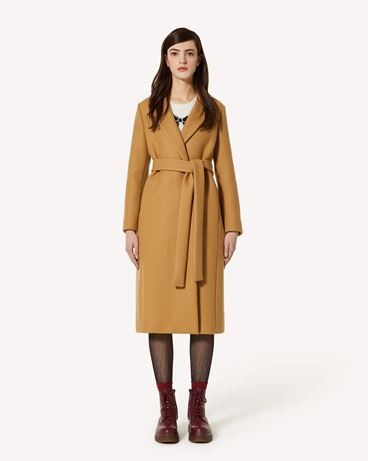 REDValentino 腰带款双面羊毛羊绒大衣