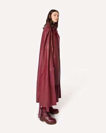 REDValentino 皮革 Trench 风衣式斗篷