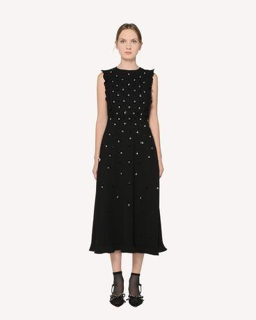 REDValentino 水钻与亮片装饰 Sablè 绉绸连衣裙