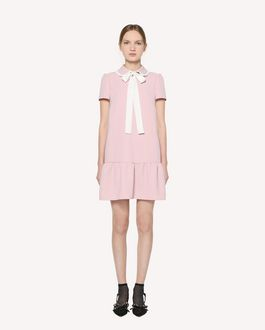 REDValentino 蝴蝶结装饰垂顺科技织物连衣裙
