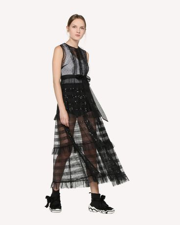 REDValentino RR3VA00HCYB 0NO 长款与中长款连衣裙 女士 d