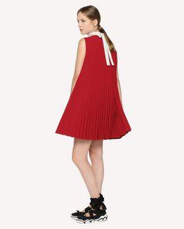 REDValentino 垂顺科技织物细褶连衣裙