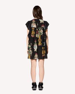 REDValentino 中国漆器印纹真丝连衣裙