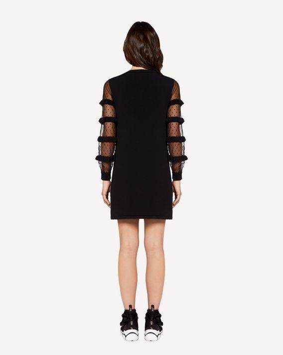 REDValentino 褶饰细节弹力粘胶连衣裙