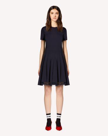 REDValentino 褶裥平纹针织连衣裙