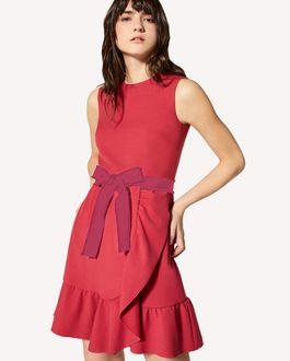 REDValentino 限定款  褶饰细节科技卡迪连衣裙