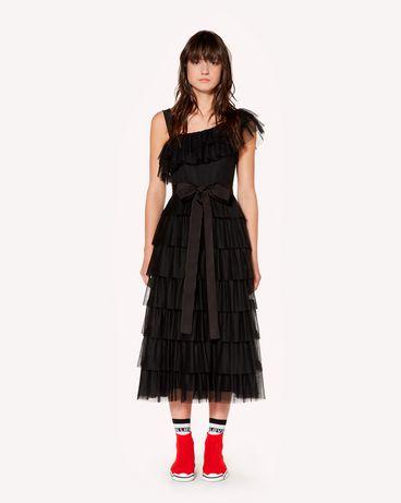 REDValentino SR3VA03C4C5 0NO 长款与中长款连衣裙 女士 f