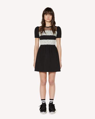 REDValentino 蕾丝饰带平纹针织连衣裙