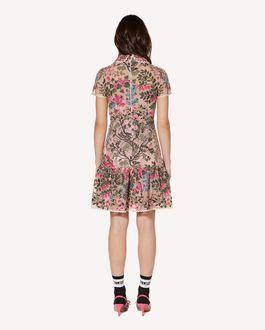 REDValentino 攀缘花卉刺绣 Macramè 连衣裙