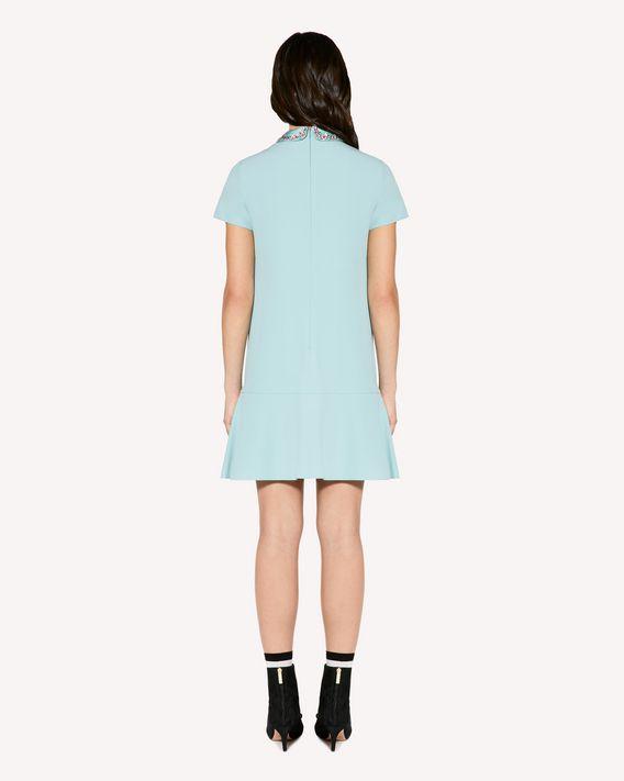 REDValentino 水钻刺绣缎背绉绸连衣裙