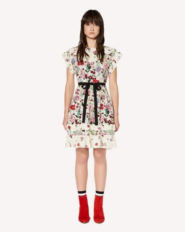 REDValentino Cherry Blossom 印纹真丝连衣裙
