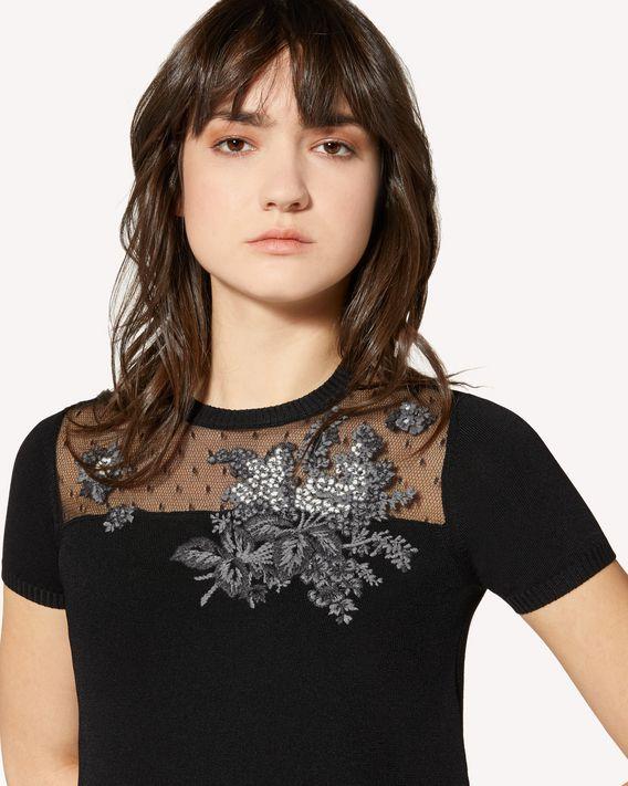 REDValentino Floral Tapestry 刺绣弹力粘胶连衣裙