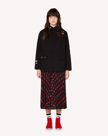 REDValentino 心形印纹双绉褶裥半裙