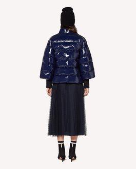 REDValentino 细点网眼薄纱细褶半裙