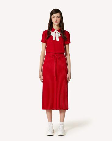 REDValentino 垂顺绉绸褶裥半裙