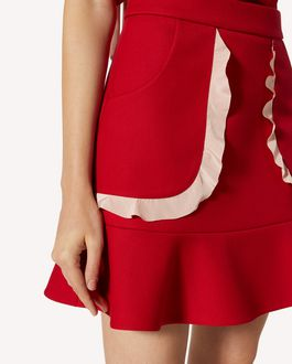 REDValentino 特别胶囊系列 褶饰细节科技巧克丁半裙