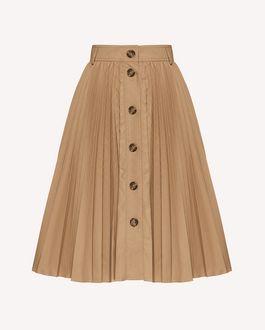REDValentino 科技小卵石纹织物褶裥半裙