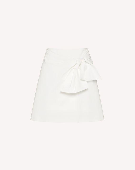 REDValentino 蝴蝶结细节弹力棉半裙