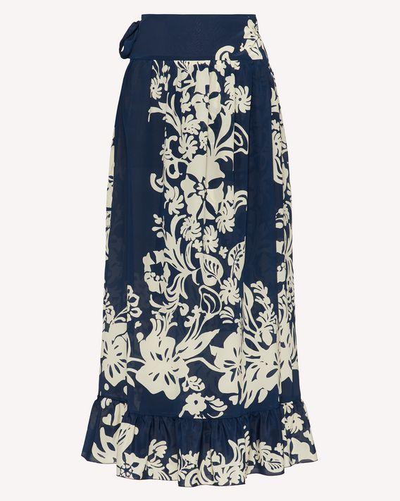 REDValentino Graphic Flora 印纹真丝半裙