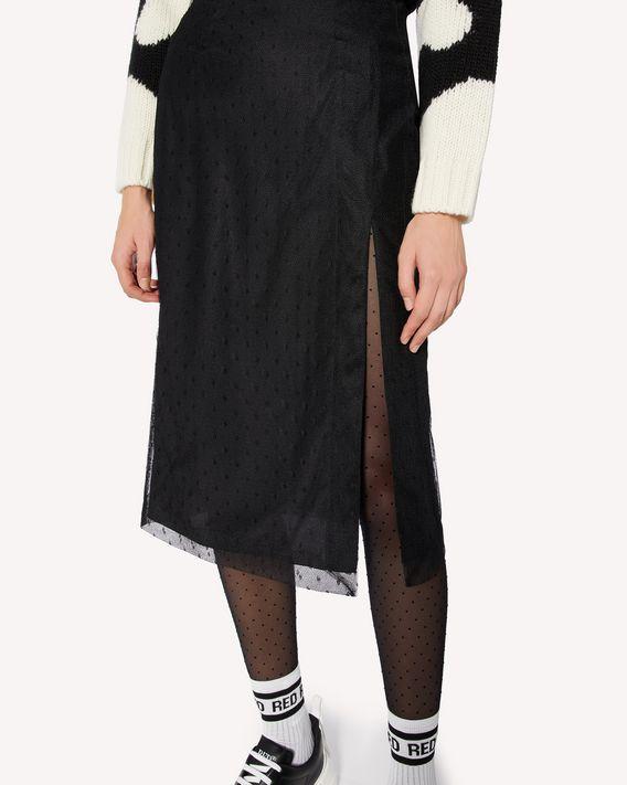 REDValentino 细点网眼薄纱铅笔半裙
