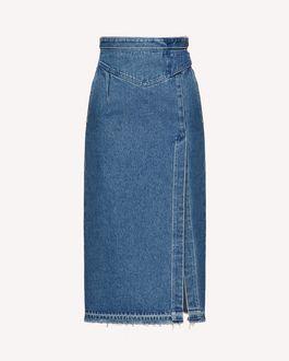 REDValentino 搭扣细节牛仔铅笔半裙