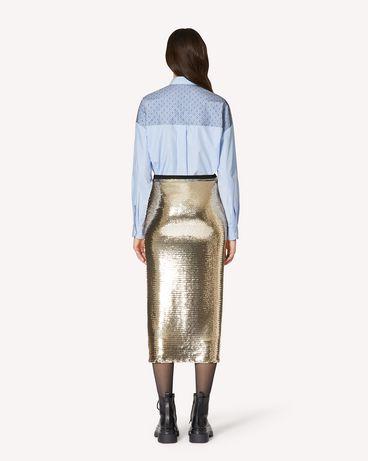 REDValentino 亮片平纹针织半裙