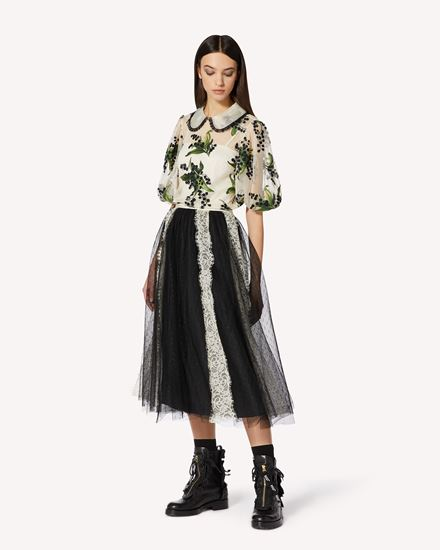 REDValentino 长款与中长款半裙 女士 VR3RA01H5P1 0NA d