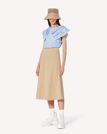 REDValentino 棉质羊毛混纺华达呢 A 字半裙