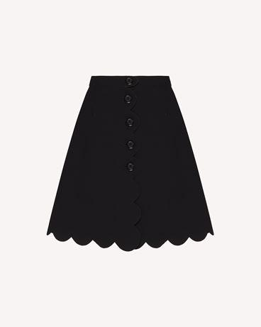 REDValentino 扇形细节 Fused tech 半裙