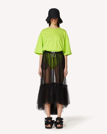 REDValentino 细点网眼薄纱半裙