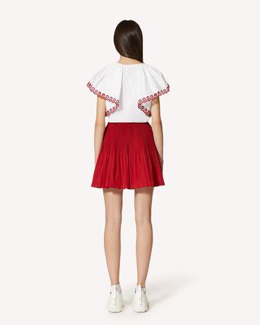 REDValentino 塔夫绸褶饰半裙
