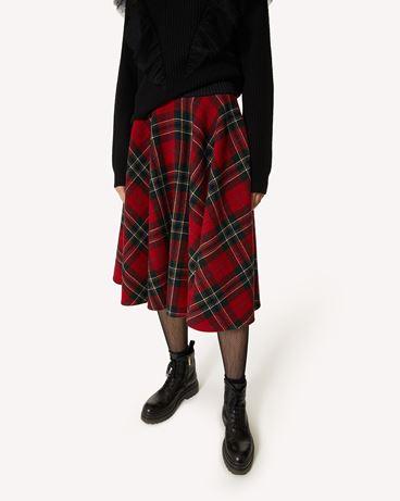 REDValentino 粗花呢半裙