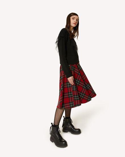 粗花呢半裙