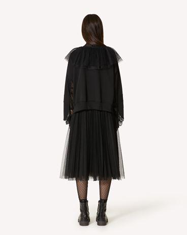 REDValentino 植绒波点薄纱褶饰半裙