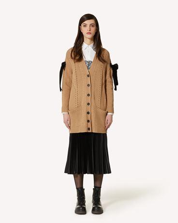 REDValentino 垂顺缎面褶纹半裙
