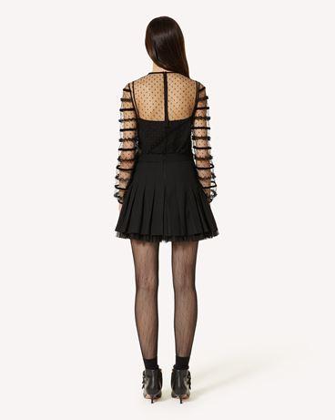 REDValentino 粘胶、羊毛华达呢针织迷你半裙