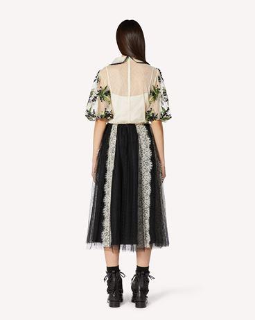 REDValentino 铃兰刺绣圆点织花薄纱上衣