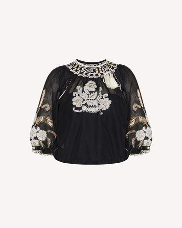 REDValentino 花卉刺绣网面上衣
