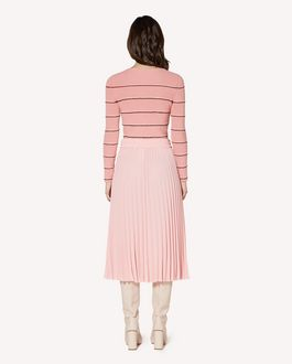 REDValentino 褶饰细节棉质毛衣