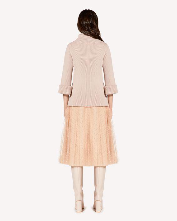 REDValentino 罗纹羊毛高领毛衣