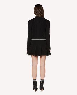 REDValentino 心形拼饰羊毛短款开衫