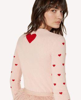 REDValentino 心形提花羊毛毛衣