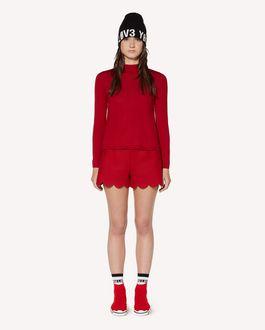 REDValentino 饰巾细节羊毛毛衣