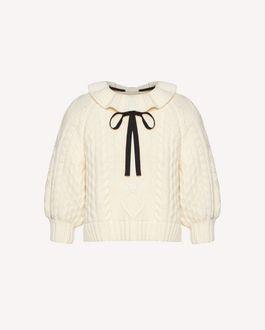 REDValentino 泡泡袖羊毛针织上衣