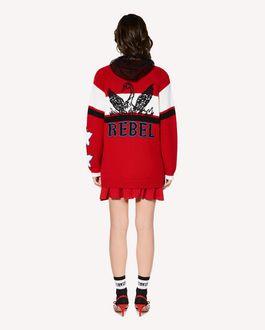 "REDValentino ""Rebel""提花阔型羊毛开衫"
