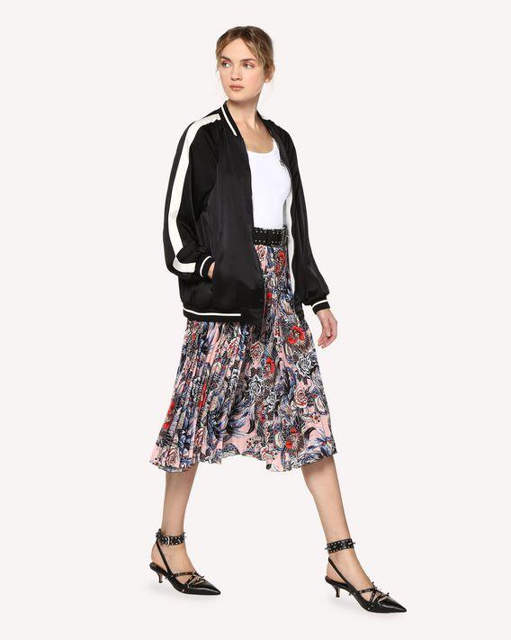 REDValentino 刺青图案刺绣垂顺缎布 Souvenir 夹克