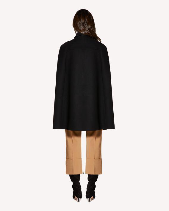 REDValentino 褶饰细节羊毛羊绒混纺厚呢斗篷